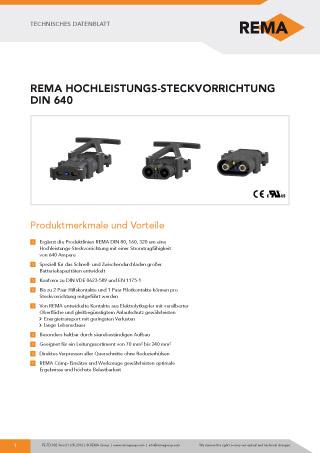 REMA Datenblatt DIN640