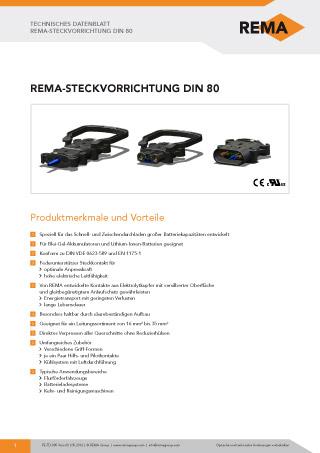 REMA Datenblatt DIN80