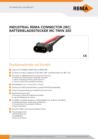 REMA Datenblatt IRC320