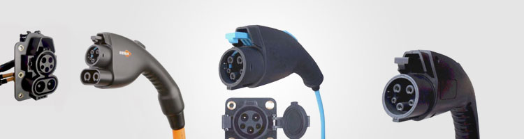 Automobile charging connector systems